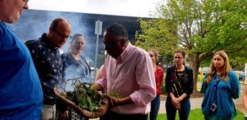 Smoking ceremony with Shane Charles