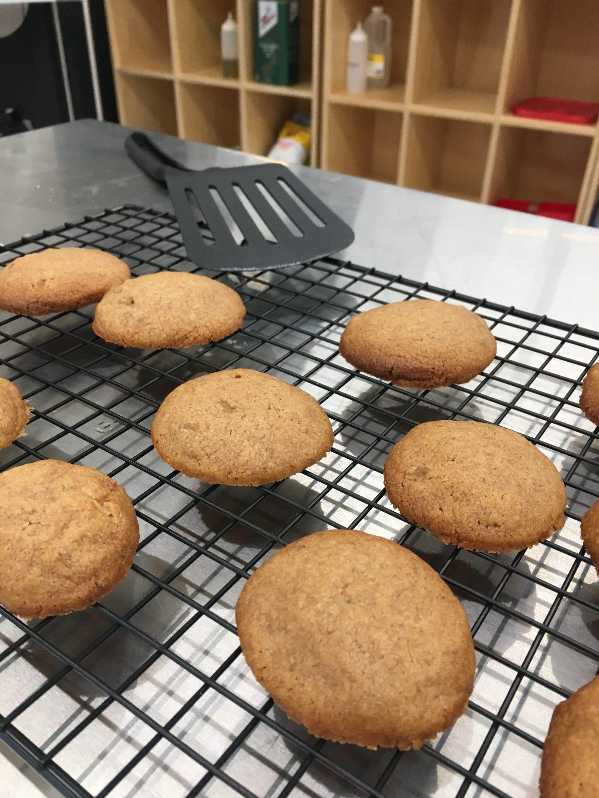 Honey-infused mushroom biscuits